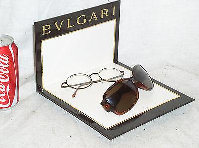 New Bvlgari Eyewear Eyeglass Retail Store Advertising Display Stand Shelf Usa