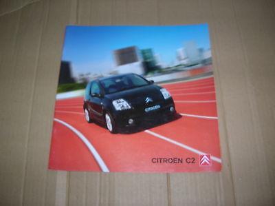 Citroen C2 Range original colour sales brochure