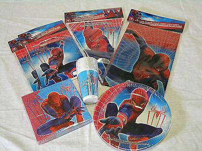 Spiderman Kinder Partydeko Teller Becher Maske Girlande Hut Tortenkerze Auswahl