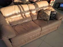 Plush leather 2 seater couch + 2 armchairs by Moran of Melbourne Parramatta Parramatta Area Preview