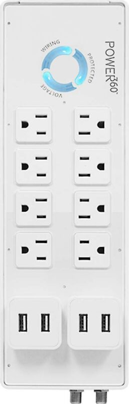 Panamax Power 360 8 outlet surge protection with 2 detachable USB modules