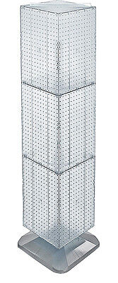 Styrene Interlocking Pegboard Display In Clear 14w X 14d X 60h Inches With Base