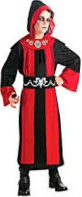 Dark Lord Kids Halloween Costume Child Pretend Hooded Rope Med 8-10