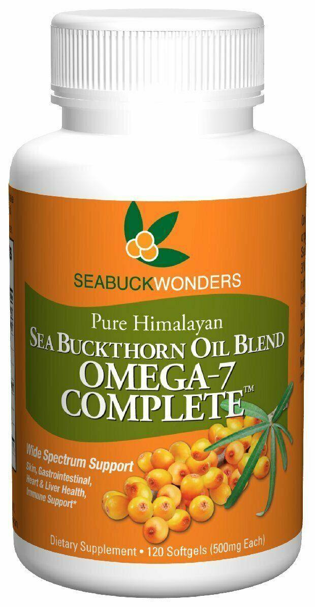 Sea Buckthorn Oil Blend, Omega-7 Complete, 120 Count Softgels Exp 12/2021