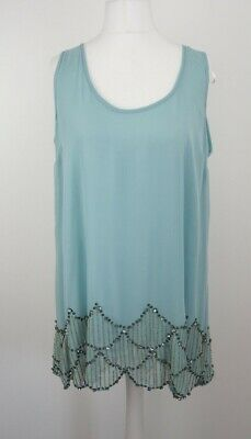 Womens Vintage Style Baby Blue Embellished Flapper Dress Uk 18 Fancy Dress