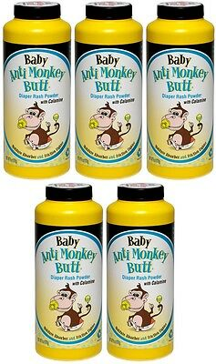 AMB 5 Pack Baby Anti Monkey Butt Diaper Rash Powder W Cal...