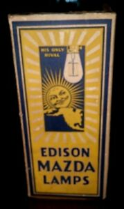 Vintage Edison Mazda Lamp. 500w -115v projection.