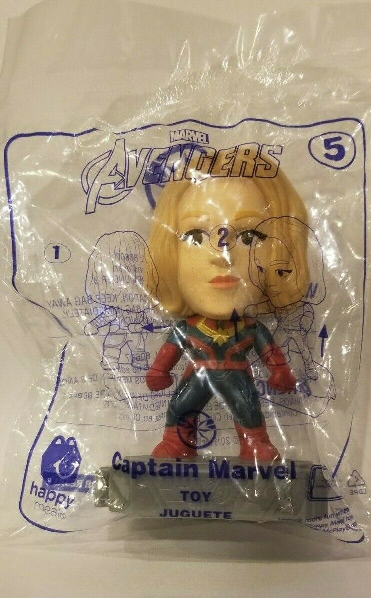Avengers (2019) McDonalds Happy Meal Toys- Fast Shipping! #5 Captain Marvel