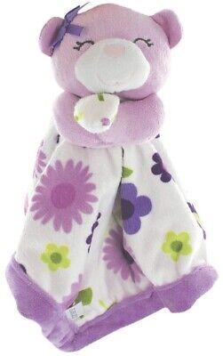 Carter's Cat Bear Purple Flowers Floral Security Blanket Lovey - Purple Bear