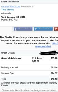 Concert tickets: The Trews