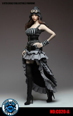 Female Steampunk Outfits (1/6 Phicen, TBLeague, Super Duck Female Steampunk Grey Outfit Set)