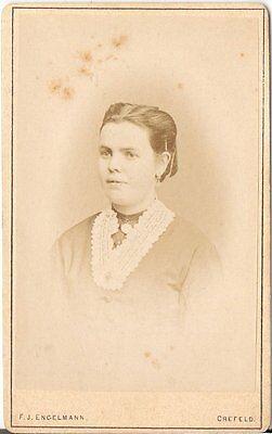 F.J. Engelmann CDV photo Damenportrait - Crefeld Krefeld 1870er