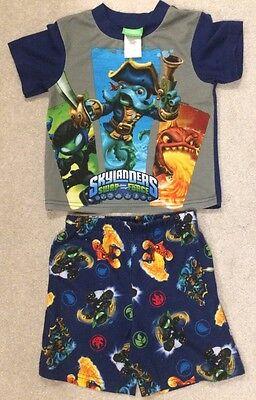 Skylanders Surf Force Short Sleeves And Shorts Pajama Set Boys - Skylanders Boy And