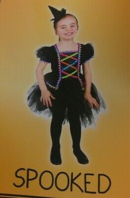 Colorful Witch Costume (Witch Child Halloween Costume Girls Kids Toddler 2T Colorful Sparkle)