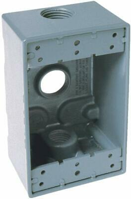 Bell Gray Weatherproof Electrical Box One Gang 34 Holes - 3 Outlets