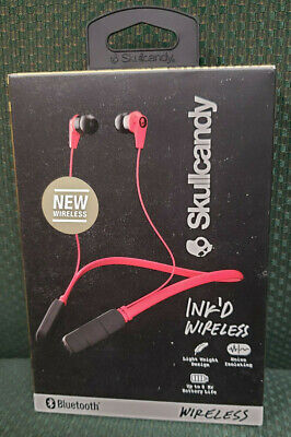 Skullcandy Ink'd In-Ear Bluetooth Wireless Headphones Headset