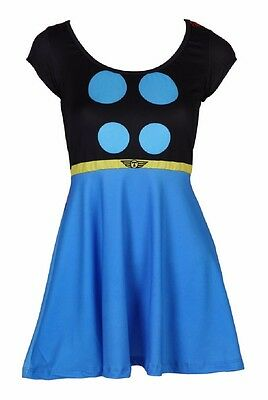 Thor I Am Costume Cosplay Marvel Comics Womens Junior Skater Dress - Thor Womens Costume