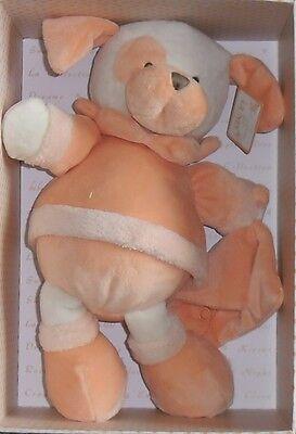 GUND LA COLLECTION BEBE TANGERINE PUPPY DOG plush BABY TOY I
