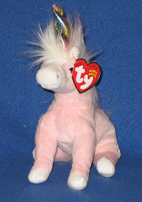 TY CHARMER the UNICORN BEANIE BABY - MINT with MINT TAGS