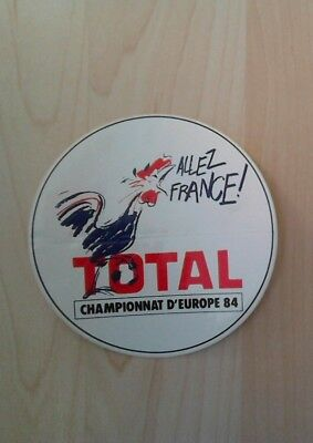 sticker autocollant ALLEZ FRANCE Euro 84 - TOTAL
