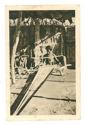 AFRICA ORIENTALE TESSITORE DI FUTE ERITREA COLONIE D'ITALIA INDIGENI ANNI '30