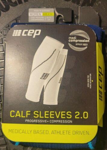 CEP Women's Athletic Compression Calf Sleeves 2.0 Deep Ocean & Hawaii Blue LQQK