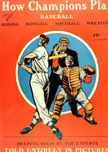1948 How Champions Play Baseball Comic Book - Powell Art - Street & Smith