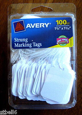 Avery Strung Marking Tags 100ct Avery 6732 Tags Garage Sale