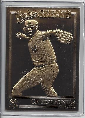 Catfish Hunter 2003 Danbury Mint Yankee Greats Sealed 22 kt Gold Card-100 Years