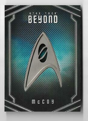 2017 Star Trek Beyond Uniform Pin Badge Relic UB3 Karl Urban as McCoy