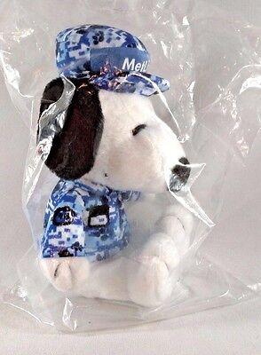 NIP METLIFE Snoopy Plush Stuffed MILITARY Blue Camo Soldier UNIFORM USA SERVICE