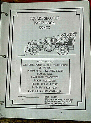 Terex Ss-842 C Extendo Boom Square Shooter Forklift Parts Book
