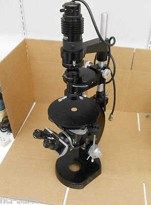 Nikon H.k.w.15x Inverted Phase Contrast Microscope 42324 Base Binocular 86133