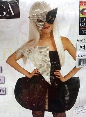 LADY GAGA HALLOWEEN COSTUME, BLACK SEQUIN DRESS & MASK, DRESS SIZE 2-4, MSRP $45 - Costume Halloween Lady Gaga