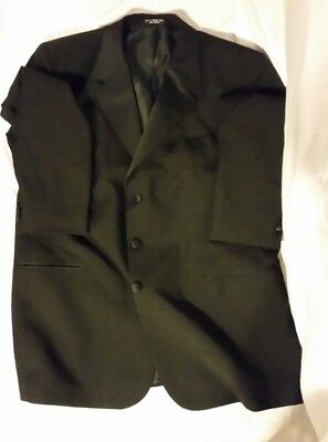 MENS BIOS LE COLLEZIONI BLACK 100% PURE NEW WOOL 48 LONG 26X34 TUXEDO TOP JACKET