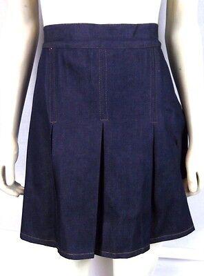 New 123 U S A  Blue Denim Pleated Jean Skirt Skort Shorts Juniors Large 11 13