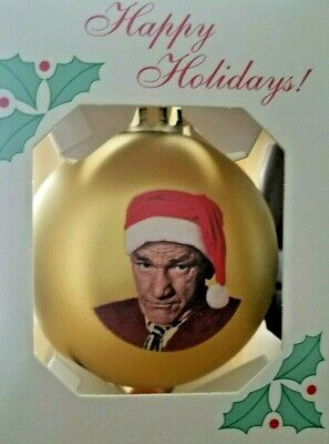 Three Stooges Shemp Gold Christmas Ornament ()