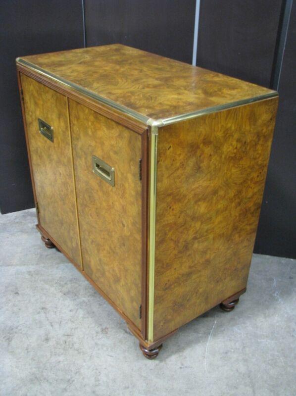 """Vintage Baker Furniture Burl Walnut Cabinet """"Far East Collection""""; Mint"""