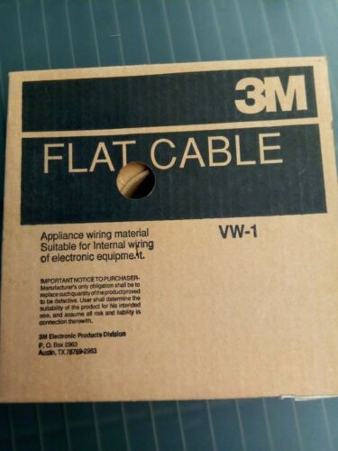 3M 7/16 Flat Cable VW-1 Partially Used Roll