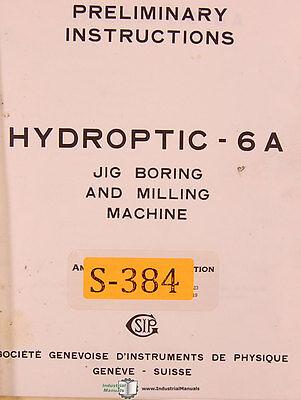 jig Boring Mill SIP MP-2P Preliminary Instructions Manual
