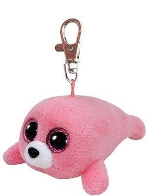 Ty Beanie Boo Baby Glubschi Clip Robbe pink Plüsch Schlüsselanhänger Neu 7135019
