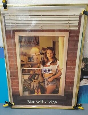 4 Rare Vintage Sexy girl Labatts Blue beer poster man cave bar display