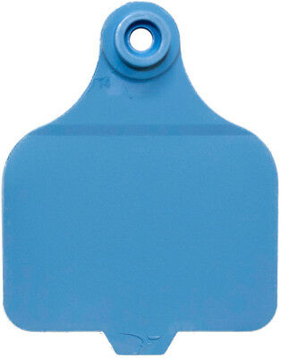 """ALLFLEX GLOBAL Large Ear Tags with Buttons 3/"""" X 2-1//4/"""" BLUE BLANK 25ct Pkg"""