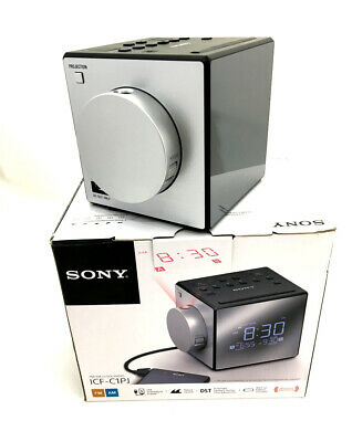 Sony ICF-C1PJ Alarm Clock AM/FM Radio Nature Sounds Time Projection ICFC1PJ