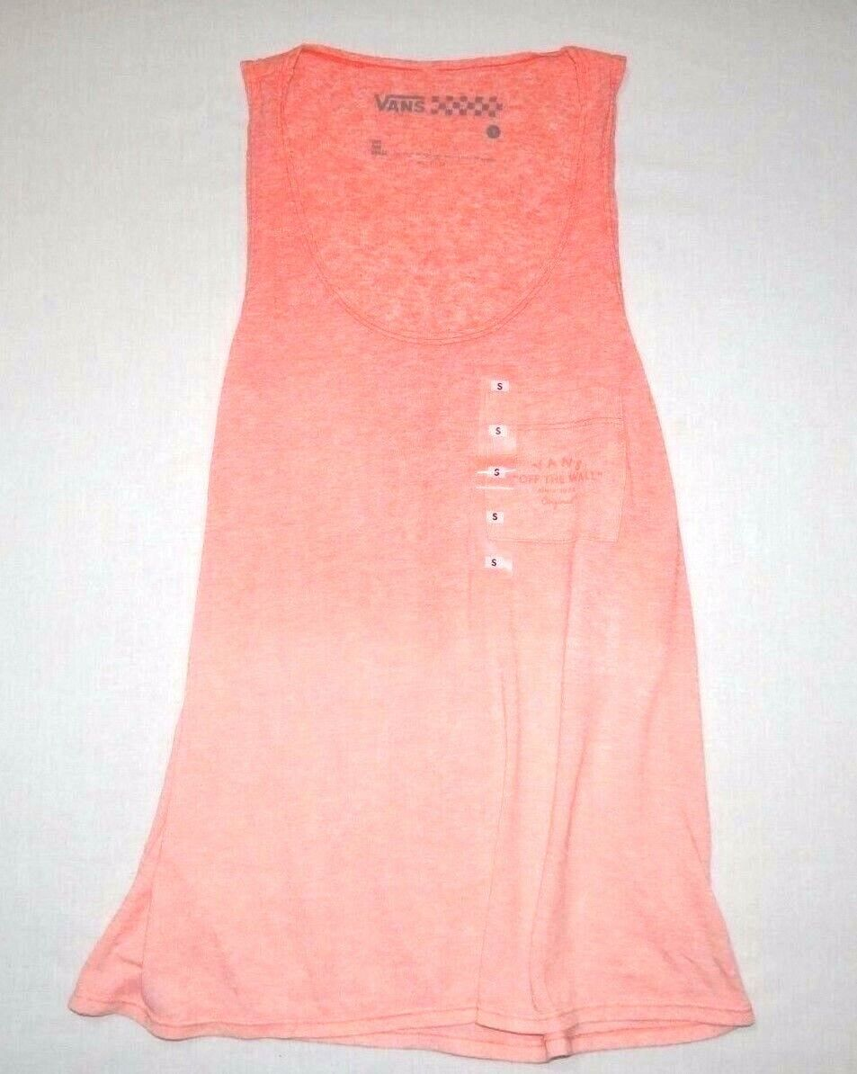 b2830852de Vans New Vans Womens Fade Pocket Tank Top Size Small