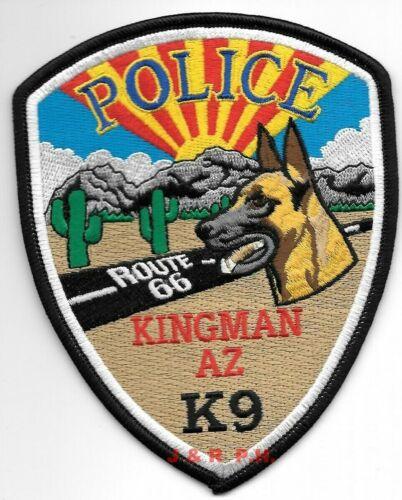 "Kingman  K-9 ""Route 66"", Arizona (4"" x 5"" size) shoulder police patch (fire)"