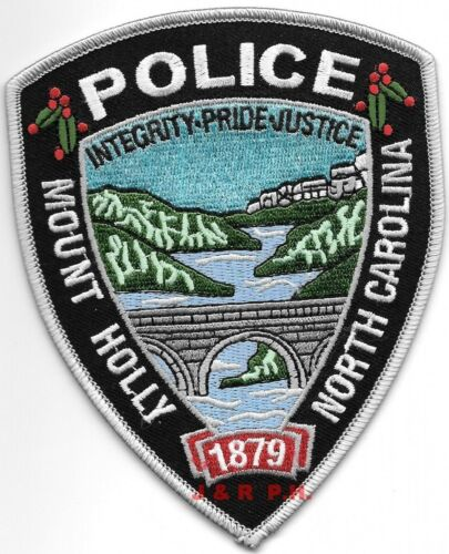"Mount Holly - 1879, North Carolina (4"" x 5"" size) shoulder police patch (fire)"