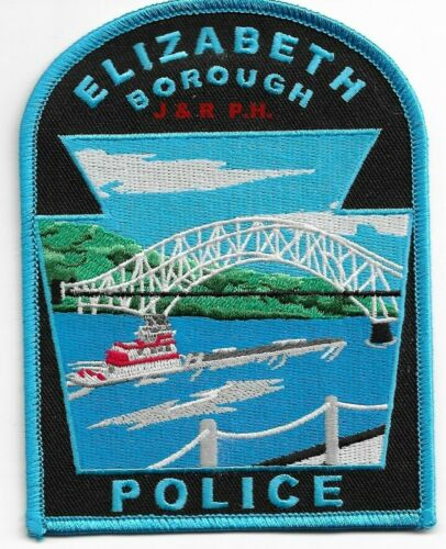 "Elizabeth Borough, Pennsylvania (3.75"" x 5"") shoulder police patch (fire)"