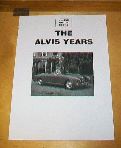 THE+ALVIS+YEARS++ROAD+TEST+%26+SERVICING+REPRINT+BOOK.+UMB.+TC21+TD21+3+LITRE+.