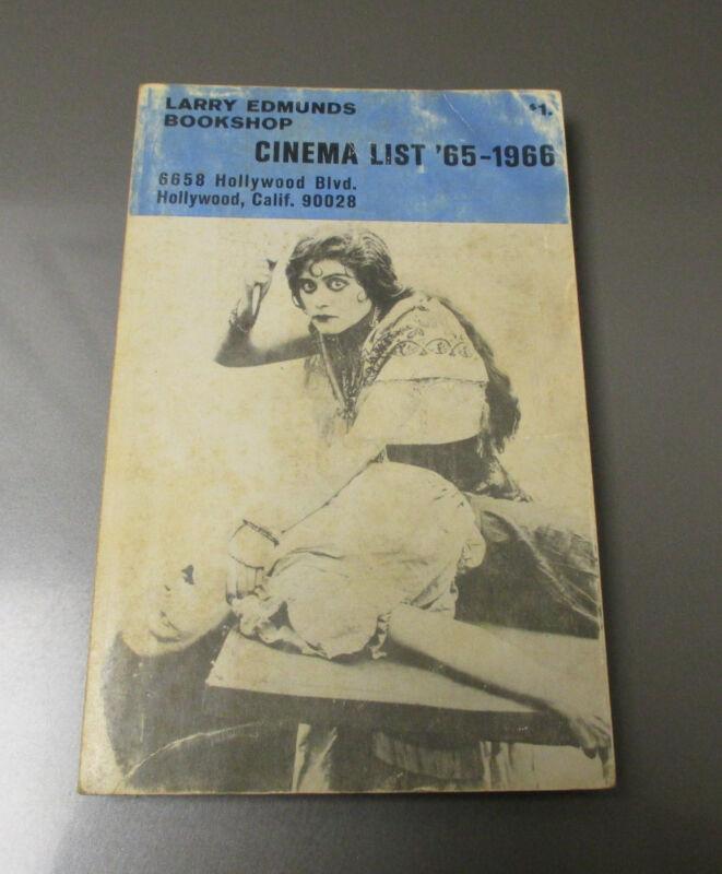1966 Larry Edmunds Bookshop CINEMA LIST VG 250 pgs Bette Davis Boris Karloff